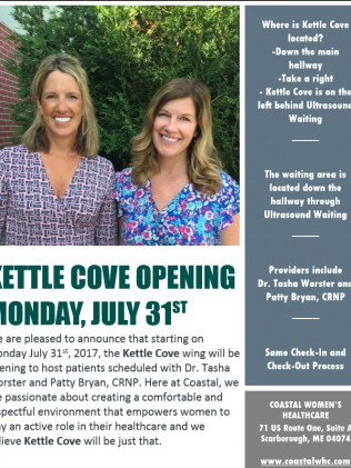Kettle Cove Opening July 31st!